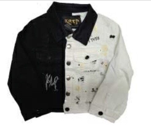 KLEEP JACKET HALF & HALF Black/White