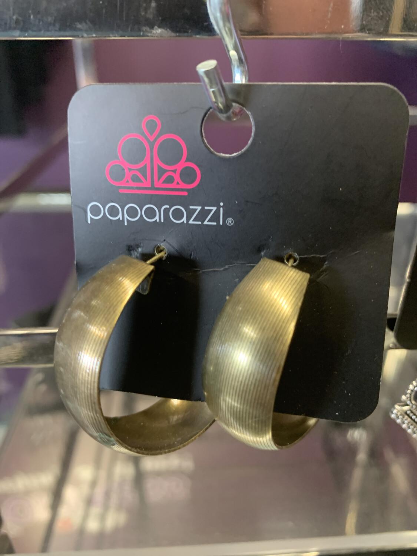 Big Brass Hoops Earring