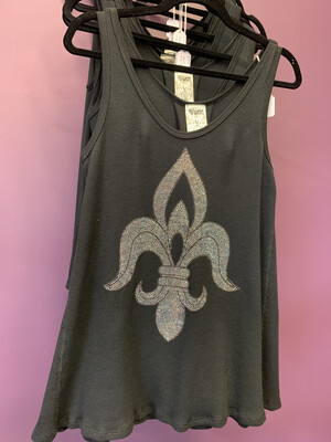 Sleeveless Top W/ Flur De Lis