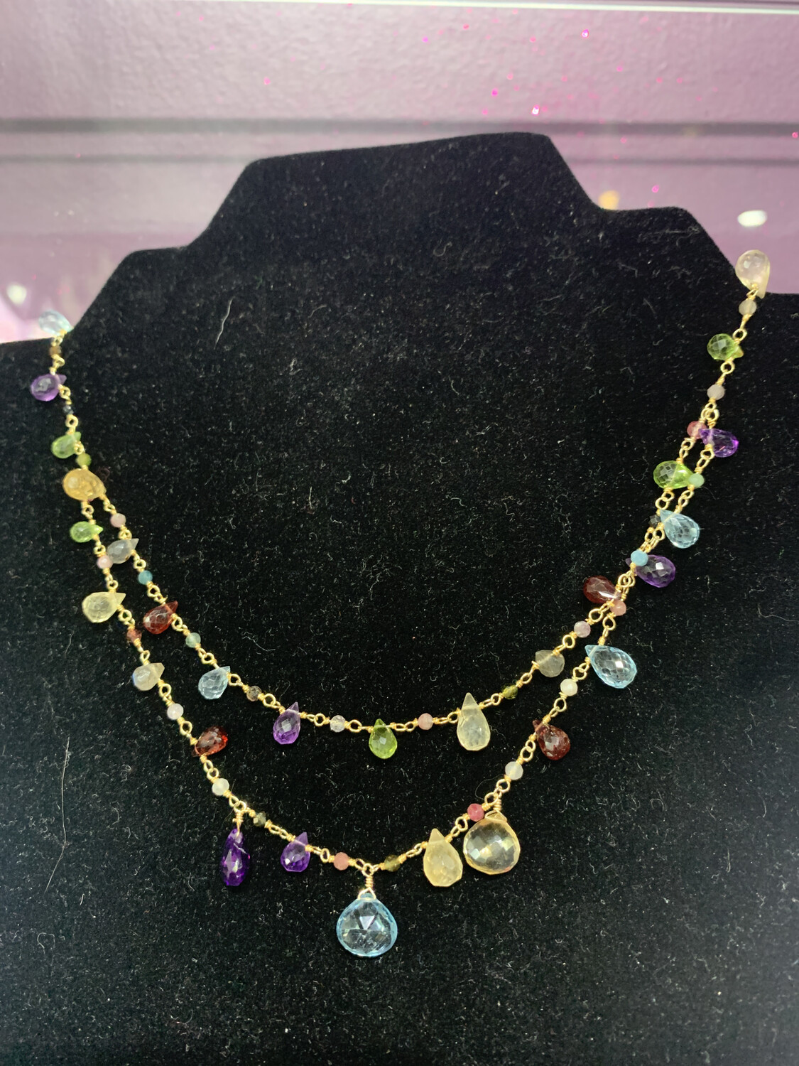 Wildflower Double Strand Necklace
