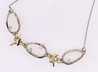 Sea Grass Confetti Diamond Necklace