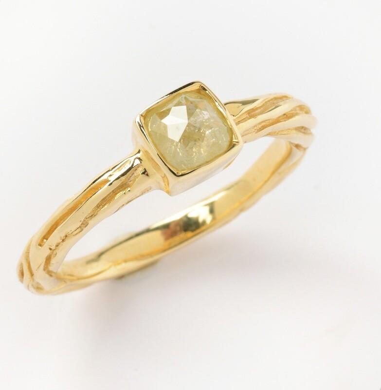 Diamond Sea Grass Stackable Ring