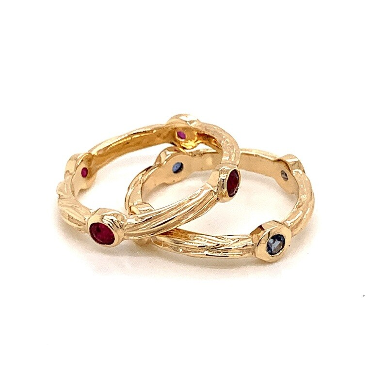 Stackable Sea Grass Rings