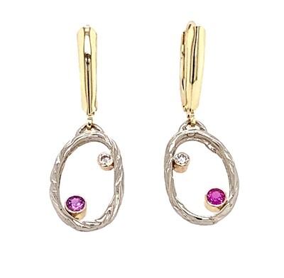 14k Gold Sea Grass Confetti Earrings
