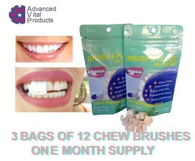 The anti-Gingivitis Brush & Floss Chewing Gum Brush.