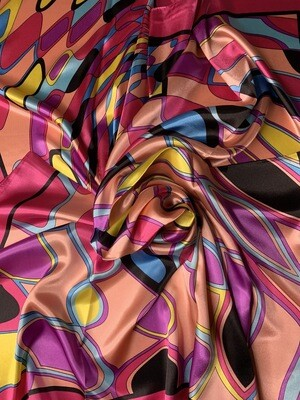 Infinite Colors Satin Scarf