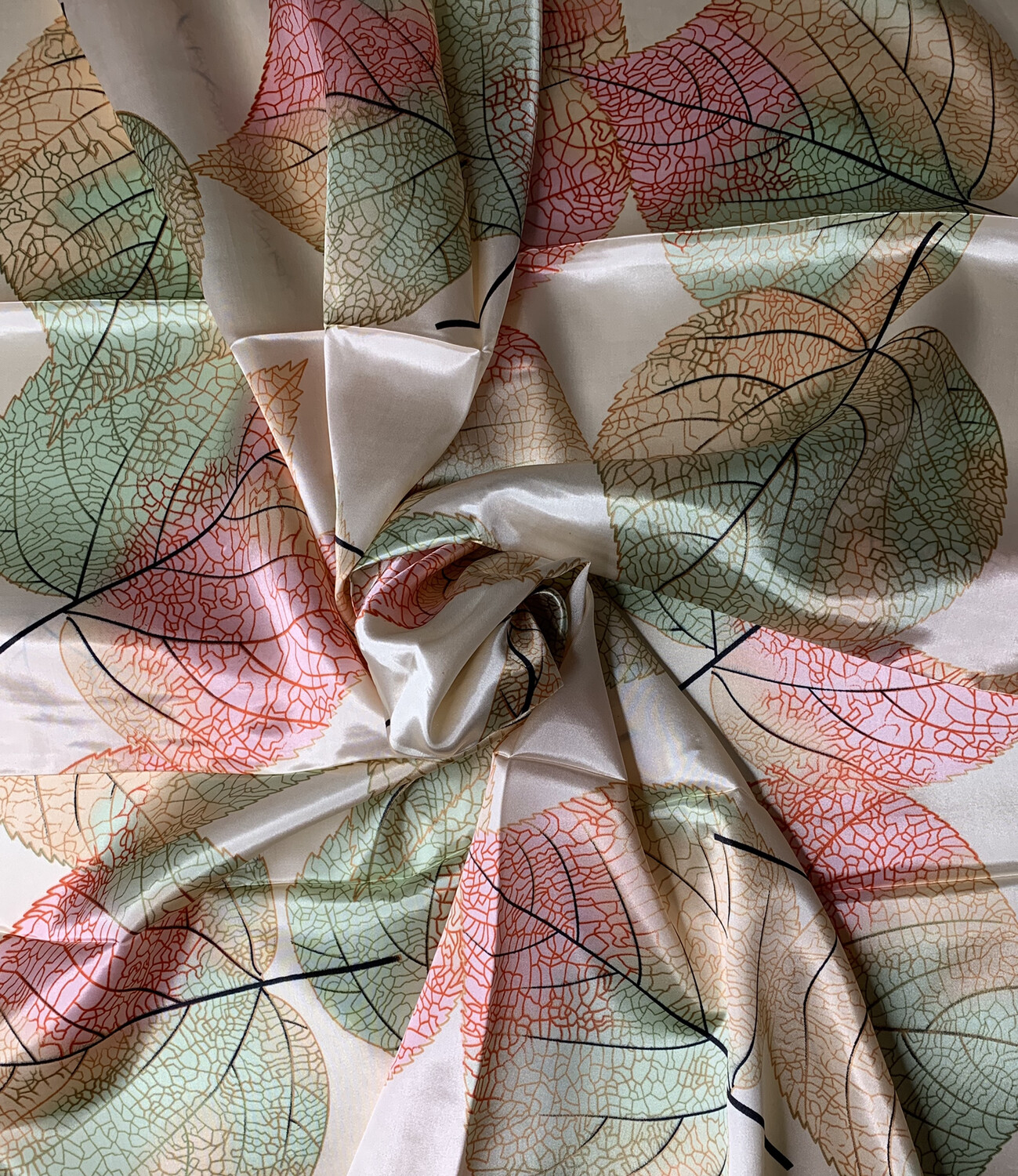 Fall Leaves Satin Scarf