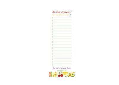 Bloc-notes (30 feuilles) « Ma liste d'épicerie » !