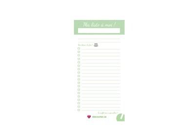 Bloc-notes (30 feuilles) « Ma liste à moi ! »