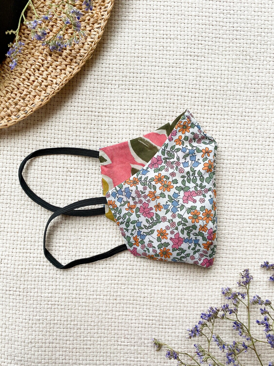 Reversible and reusable Face Mask - Daisy