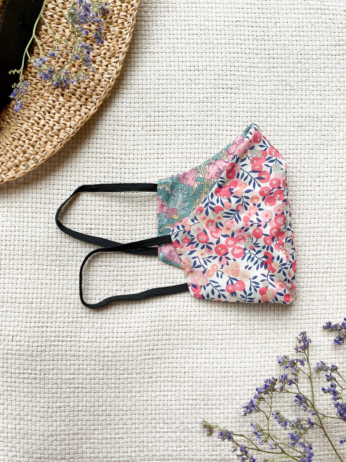 Reversible and reusable Face Mask - Berry