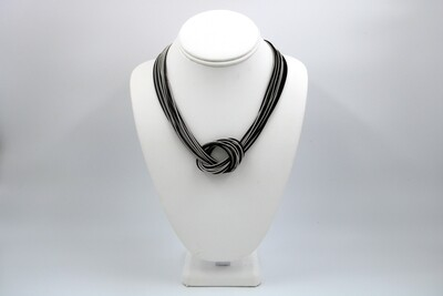 Black & Silver PW Large Knot NK