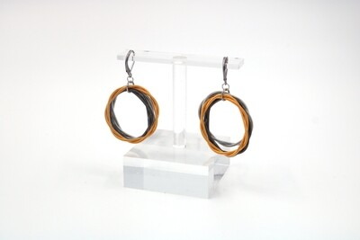Piano Wire Multi Twist Loop Earrings