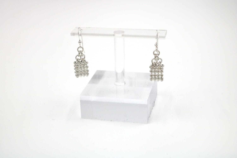 Mesh Chain Loop Earrings