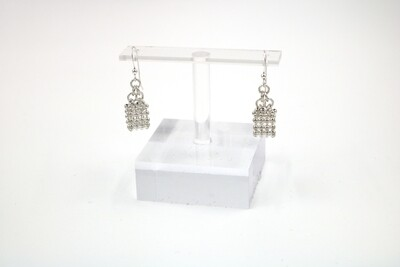 Mesh Chain Loop Earrings