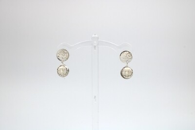 Andrea Abrams-Herbert Baby Moon Drop Silver Earrings