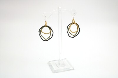 Petite Driftwood Three Hoop Wire Earring