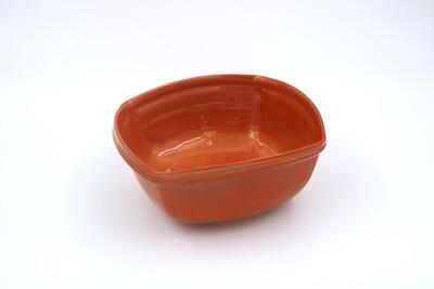 Square Orange Ceramic Bowl