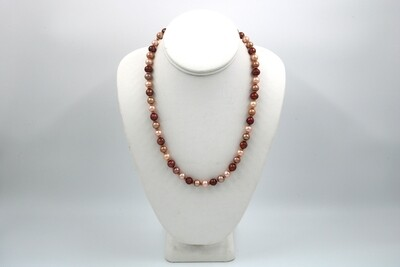 Anne Wood Pearl Necklace Multi 18""