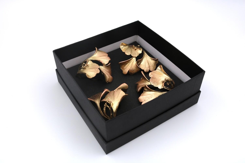 Gingko Napkin Rings - 4/Gold