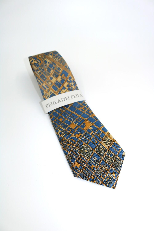 Necktie - PHILA Blue Gold