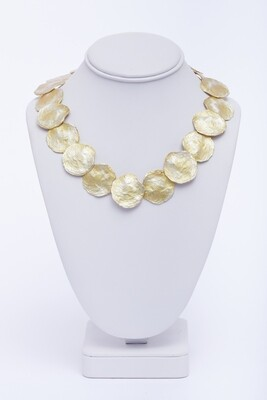 Gold Wash over Metal Necklace