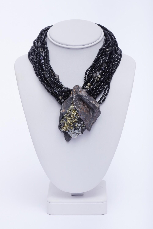 Micki Ravitz Clay/Glass Necklace