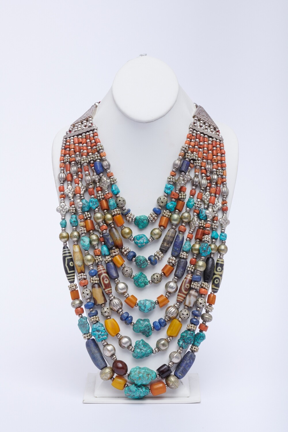 Turquoise/Lapis/Sterling Silver Necklace