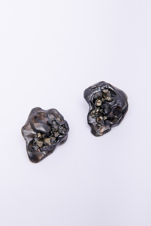 Micki Ravitz Clay/Glass Earrings