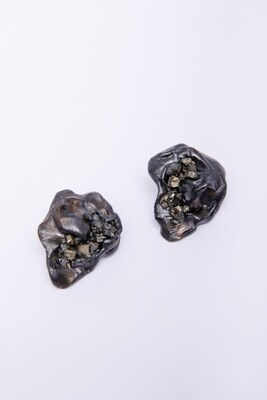 Micki Ravitz Clay/Glass Earrings