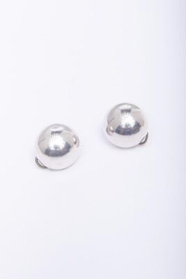 Sterling Silver Earrings - Button