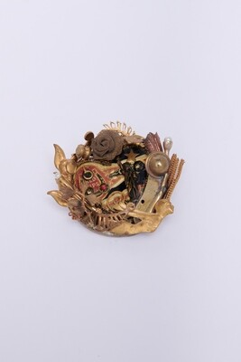 Brooch, Found Objects (Max Art)