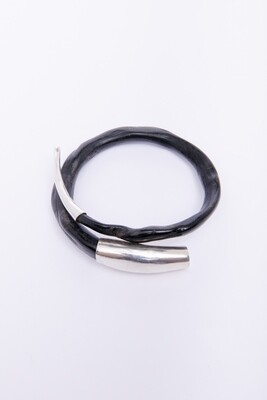 Wood/Sterling Bracelet
