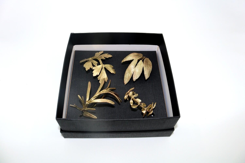 Herb Napkin Rings - Gold/4