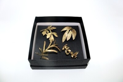 Herb Napkin Rings - Gold/4