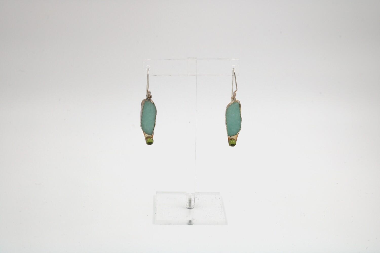 Andrea Abrams-Herbert Amazonite/Peridot Earrings