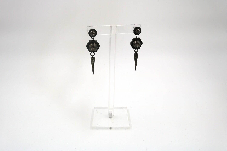 Amanda Kaiserman Jupiter Earrings Black
