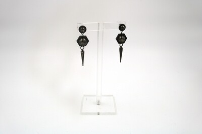 Amanda Kaiserman Jupiter Earrings Black
