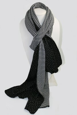 Knit Scarf - Polka Dot/Stripe
