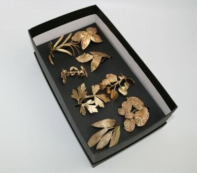 Italian Herb Napkin Rings Set/8 Gold