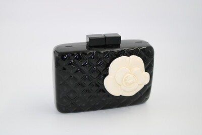 Quilted Rose Clutch (Shoulder strap included)