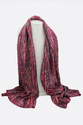 Knit Oblong Scarf Multi/Rose