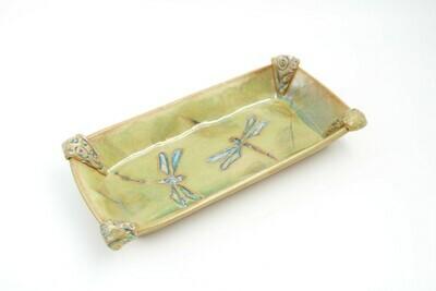 Deborah Williams Rectangular Dragonfly Plate 10.5