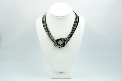 Black & Silver PW Large Knot NK