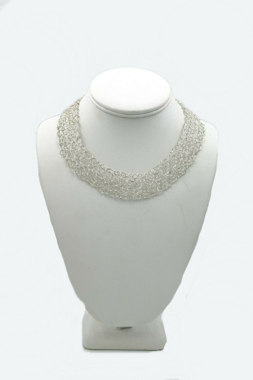 MetaLace Sterling Silver Necklace Plain 16-18 inches