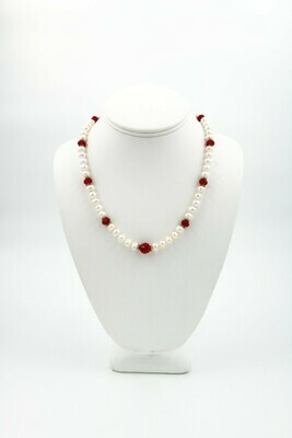 Anne Wood Fresh Water Pearl / Swarovski Necklace