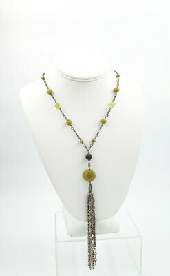 Sarah Hodge Yellow Turquoise Necklace