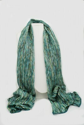 Knit Oblong Scarf Multi - Teal