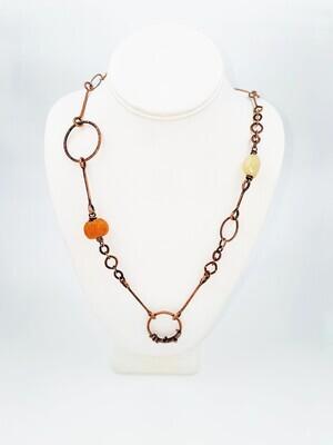 Cynthia Murray Copper, Chrysoprase, Jade Necklace