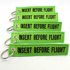 Remove Before Flight Tag (Green)